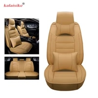kalaisike leather universal car seat covers for peugeot all models 206 307 407 207 508 208 2008 3008 308 406 301 607 car styling