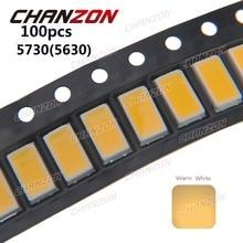 100 stücke SMD LED-Chip 5730 5630 Warmweiß 3000 Karat 0,5 Watt Ultra helle Oberfläche 0,5 Watt Montieren SMT Perlen FÜHRTE Leuchtdiode lampe