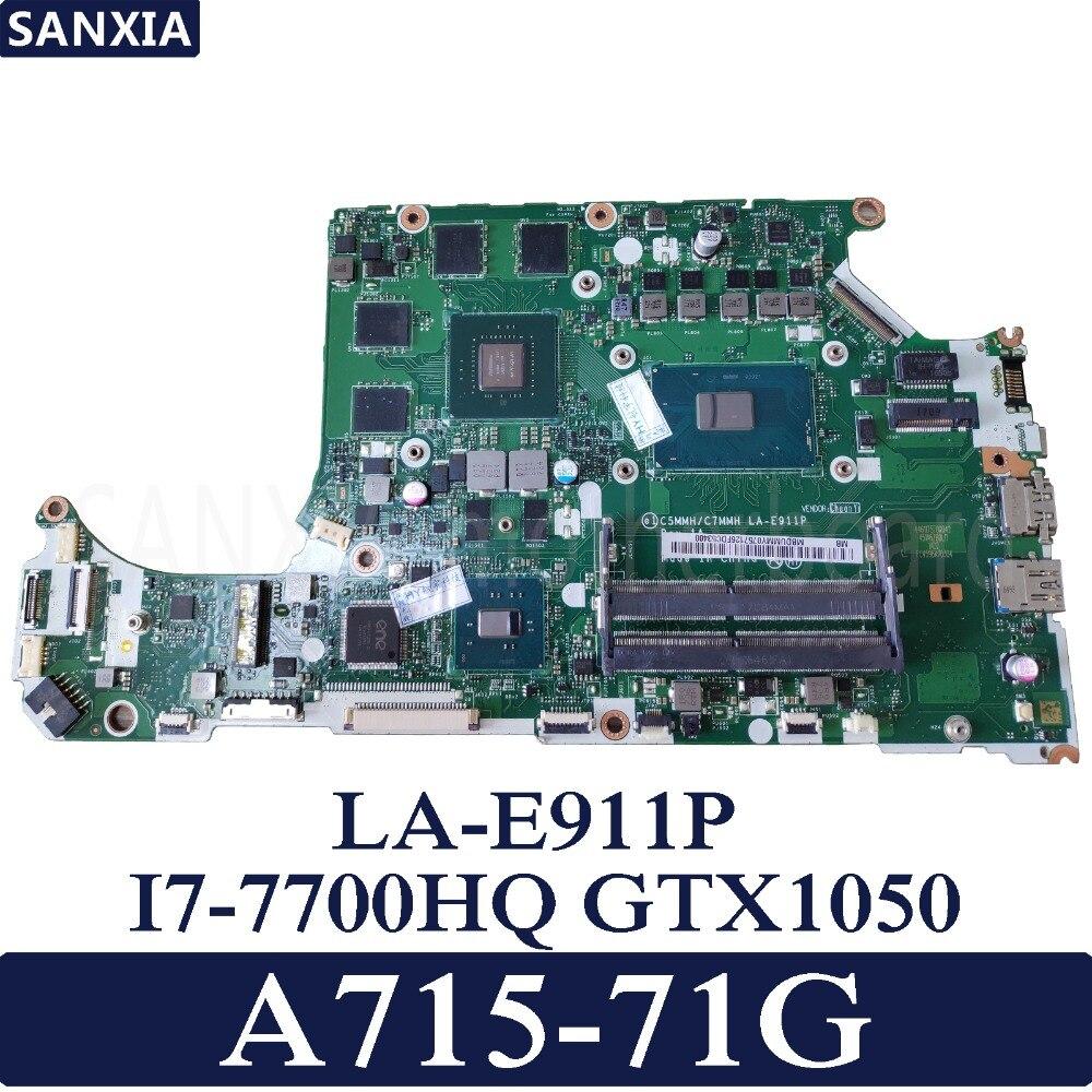 Placa base de ordenador portátil KEFU C5MMH/C7MMH LA-E911P para Acer A715-71G placa base original I7-7700HQ GTX1050