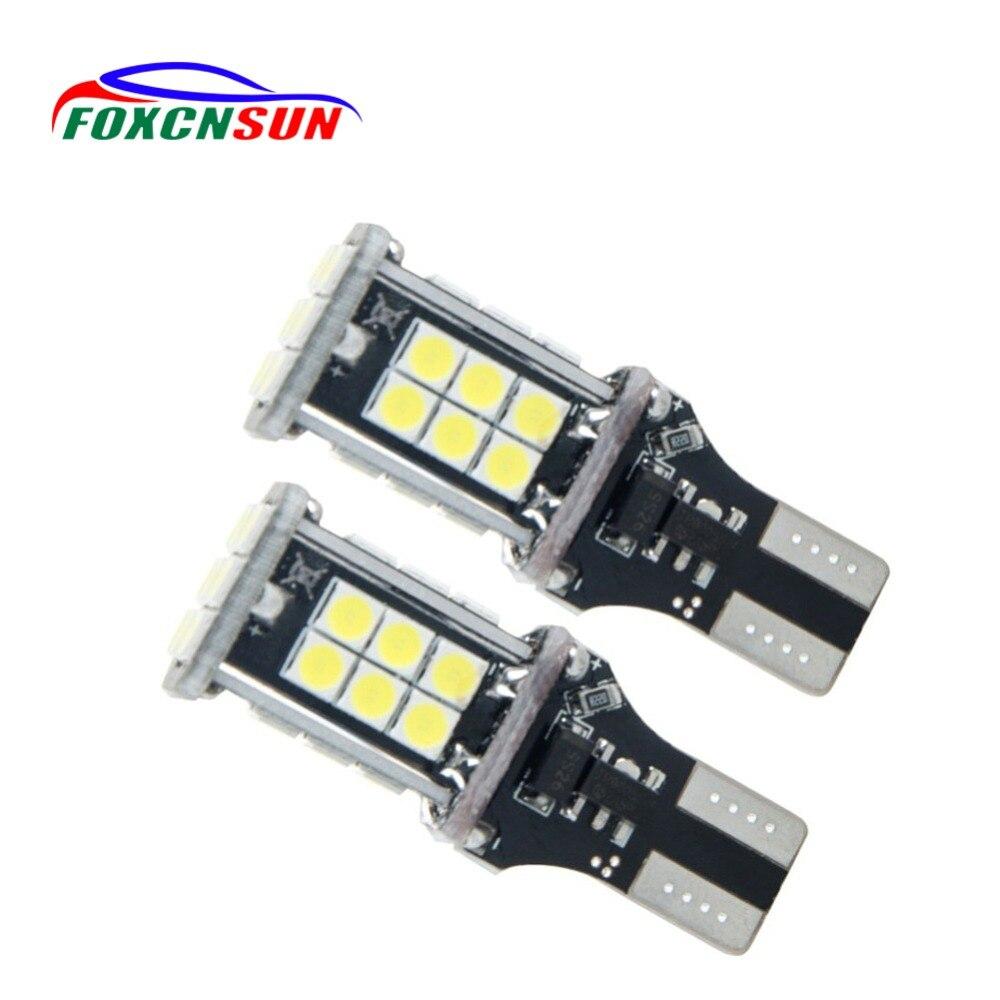 Foxcnsun 2PCS T15 LED Canbus OBC Fehler Freie Birnen LED Lampe Keil Reverse Lichter 921 912 W16W LED Dashboard warnen Auto lampe Weiß