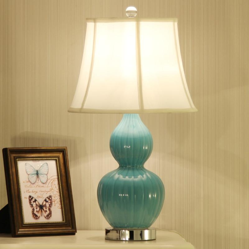 Lampe de table en céramique chinoise chevet simple salon européen simple chaud classique lampe de table décorative ZA623 ZL168 YM