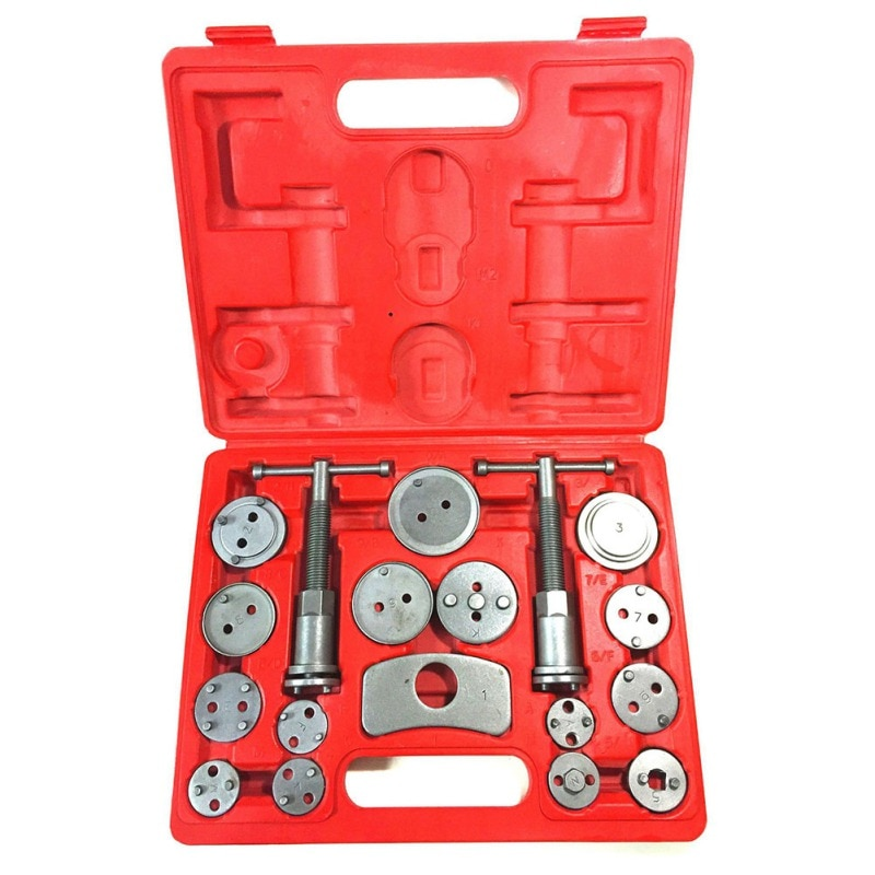 Kit de herramientas de freno de disco de precisión para coche Universal 12 piezas de pastillas de freno, bomba de freno, pistón de freno, Coche kit de herramienta de la reparación