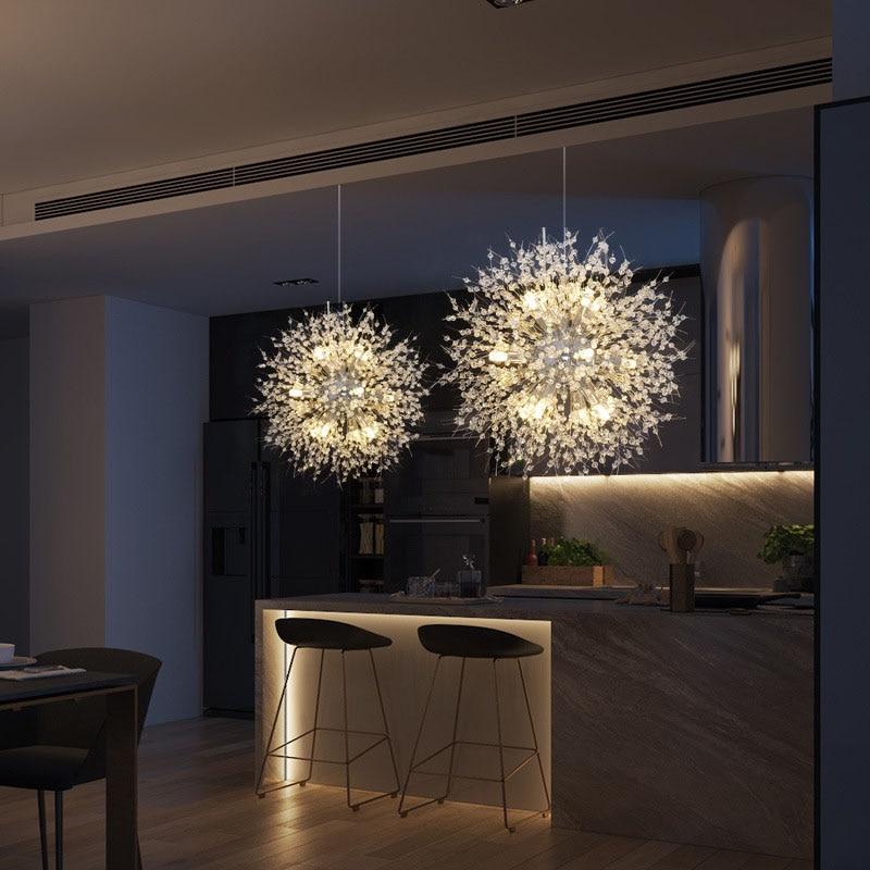 Creative Pendant Light Modrn Lamp Suspension Luminaire Lights AC110-240v Hanging Bar Dining Restaurant Dandelion Pendant Lights  - buy with discount