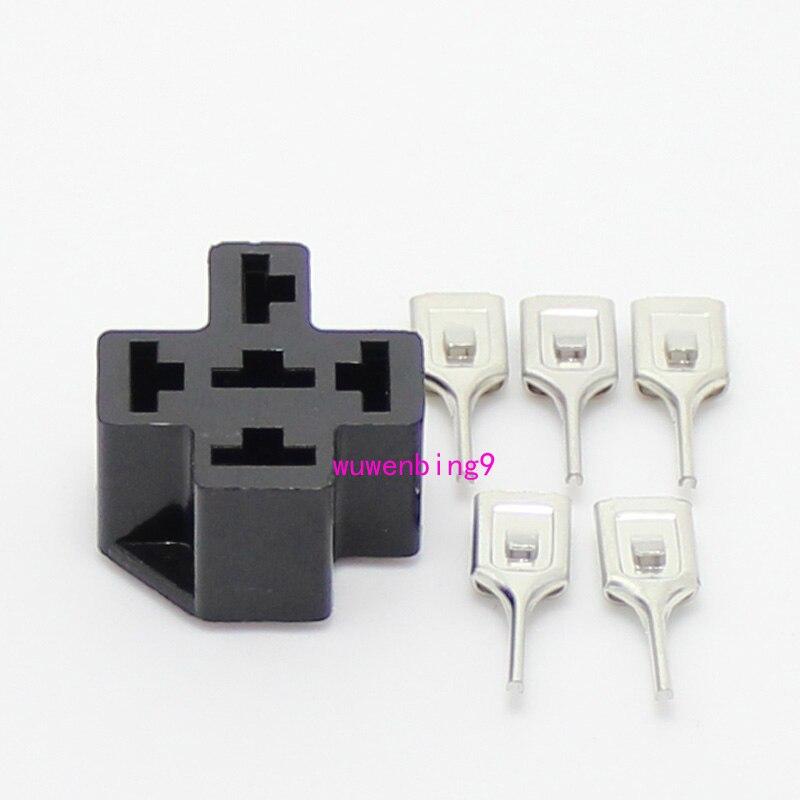 20 комплектов-автомобильные реле-гнезда 5 Pin PCB держатель автомобильного реле