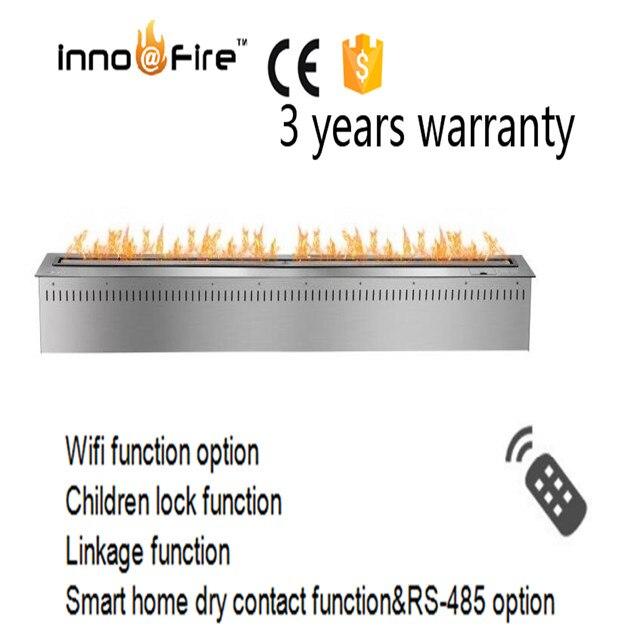 72 pulgadas plata o negro control remoto inteligente eléctrico interior etanol fuego al aire libre