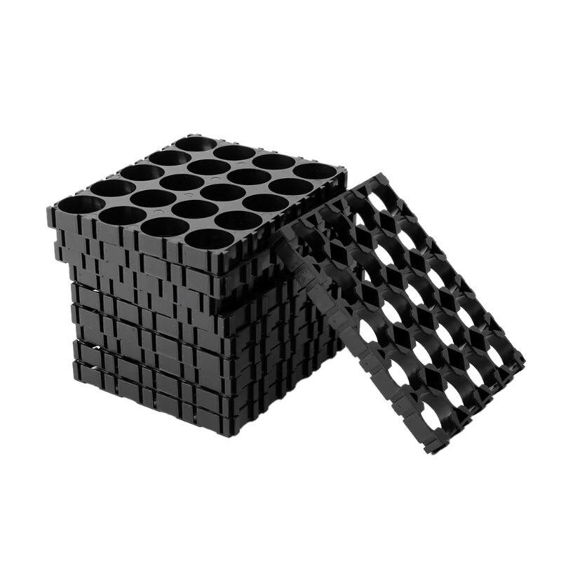 10x 18650 Battery 4x5 Cell Spacer Radiating Shell Pack Plastic Heat Holder Black