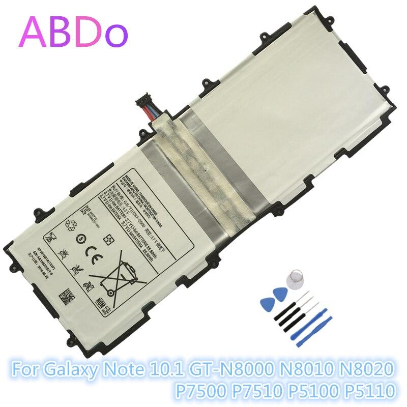 SP3676B1A Tablet Bateria Para Samsung Galaxy Note 10.1 GT-N8000 N8010 N8020 P7500 P7510 P5100 P5110 7000 mah Substituição de Baterias