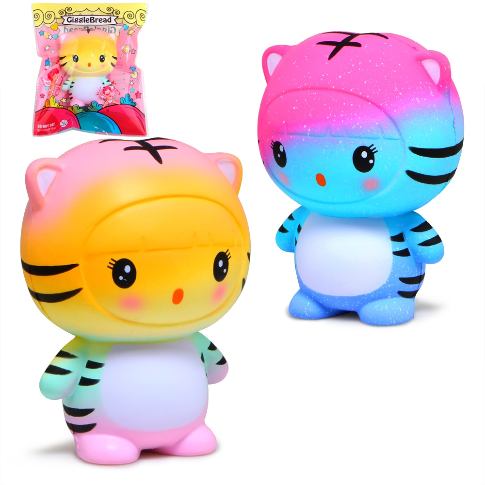 Bonito Squishies Squishy Galáxia Tigre Lento Aumento Creme Perfumado Pacote Original Toy Squeeze