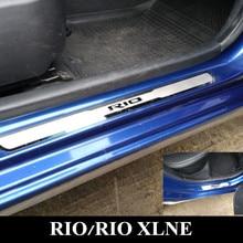 RIO-seuil de porte en acier inoxydable   Plaque de manchette adaptée à KIA RIO 2010-2019 Rio X ligne RIO3 RIO4
