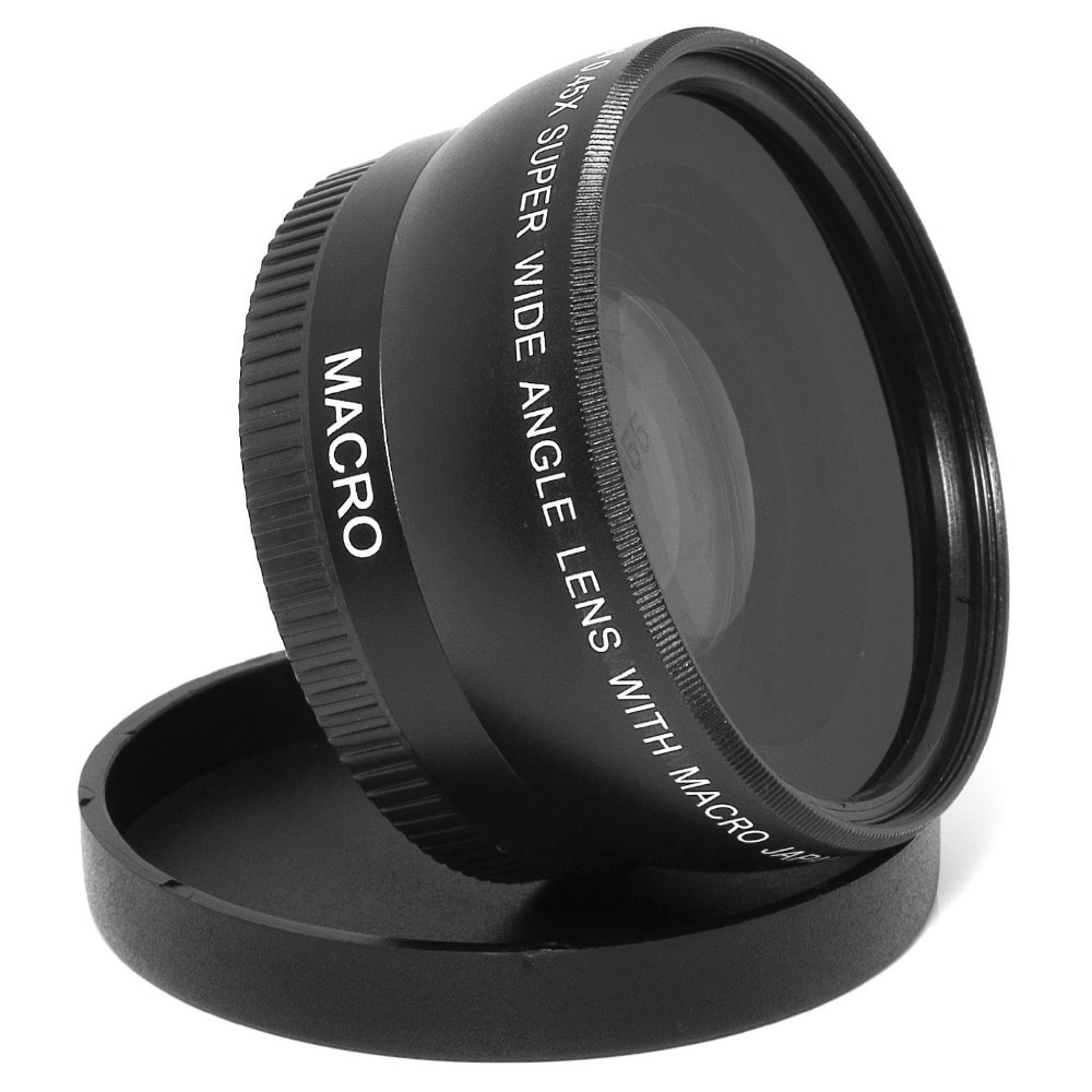Lightdow 55mm 0.45x Wide Angle Lens + Obiettivo Macro per fotocamera Sony Alpha A77 A280 A290 A380 A390 A580 A590 DSLR Macchina Fotografica di Trasporto Libero