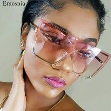 Lunettes de soleil une pièce à la mode   Luxe dégradé italien, lunettes de soleil pour femmes, monture surdimensionnée, lunettes 2019, marque tendance, UV400