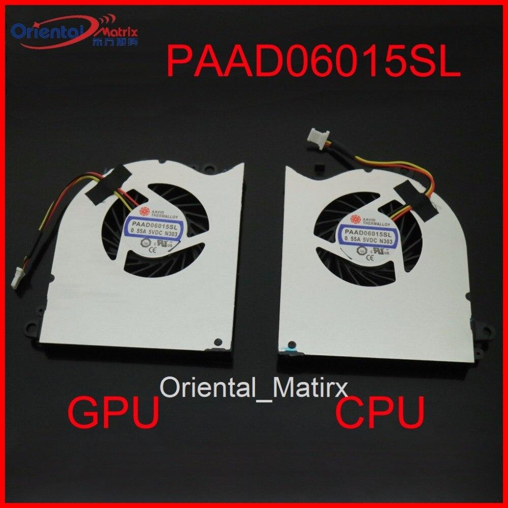 Новый вентилятор PAAD06015SL DC5V 0.55A 3Pin для MSI GS60 GS60-2PC GS60-2PE GS60-2PL 2PM MS-16H2 16H7 16H5 MS-16H4 охлаждающий вентилятор CPU