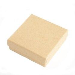 Caixa de jóias High-end 18 pçs/lote 7*7*3.5 centímetros Brinco Caixas de Presente Pulseira Anel Retro Kraft Organizador de papel Titular Porta Joias