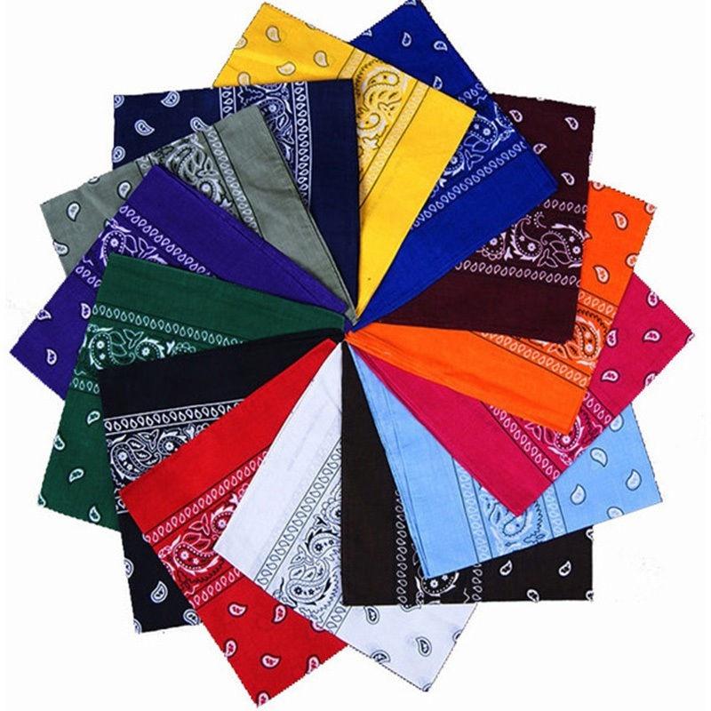 Unisex moda Estilo Vintage hombres mujeres algodón cabeza envoltura cuello bufanda pulsera pañuelo bolsillo toalla