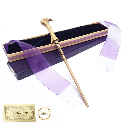 Волшебная палочка Волдеморт из металла/железа HP, волшебная палочка Гермионы, элегантная упаковочная лента, рождественский подарок для косплея с билетом на поезде