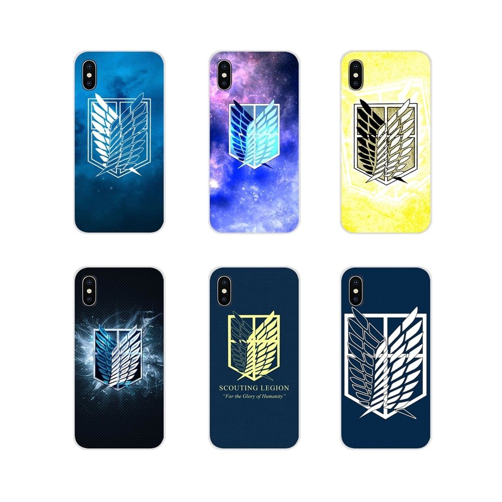 For Motorola Moto X4 E4 E5 G5 G5S G6 Z Z2 Z3 G3 G2 C Play Plus attack on titan Scouting Legion Accessories Phone Cases Covers