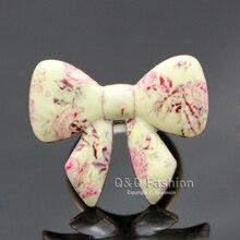 Vintage Art déco cloisonné fleur émail noeud papillon noeud papillon noeud papillon or bague bijoux nouveau