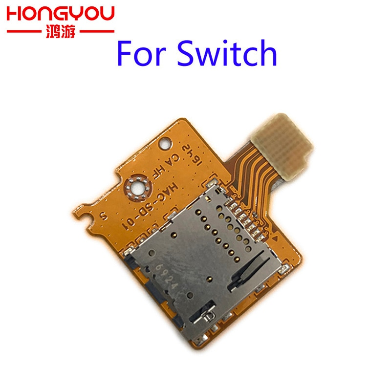 10 Uds. Piezas de repuesto originales para Nintendo Switch NS ranura para tarjeta TF SD reemplazo de la manija del controlador de la tarjeta SD