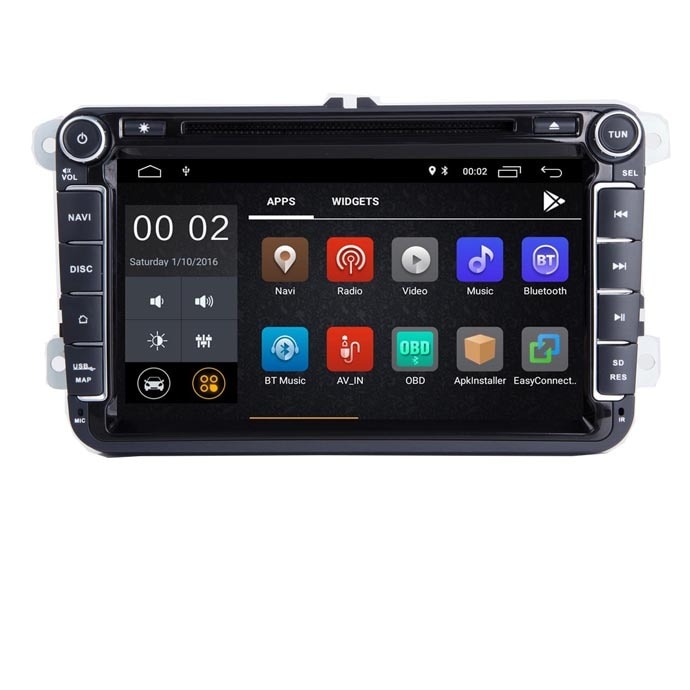 "8 ""android 8,1 car radio gps navegación para VW Golf MK5 Jetta Passat Polo Tiguan Wifi 3G Bluetooth SD OBD espejo enlace autobús"