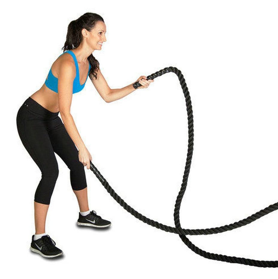 """Cubierto de nailon (3,8 cm x 9 metros) 1,5 """"x30 contra cuerda potencia muscular formación cuerda remolcador de la guerra cuerda"""