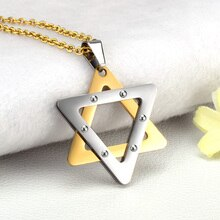SOITIS Magen étoile de David hexagramme pendentif israël juif judaïca bijoux collier en acier inoxydable femmes hommes chaîne Unique