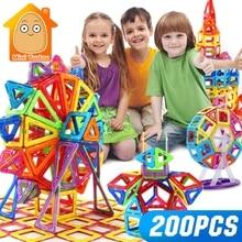 Mini 200 pièces-46 pièces magnétique concepteur constructeur jouet pour garçons filles blocs de construction magnétiques aimant jouets éducatifs pour les enfants