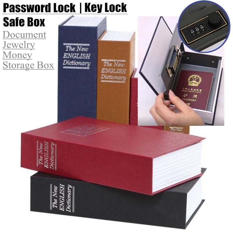 Student Gift Dictionary Mini Safe Box Book Hidden Secret Key Lock Coin Bank Card Jewellery Private Diary Storage Password Locker