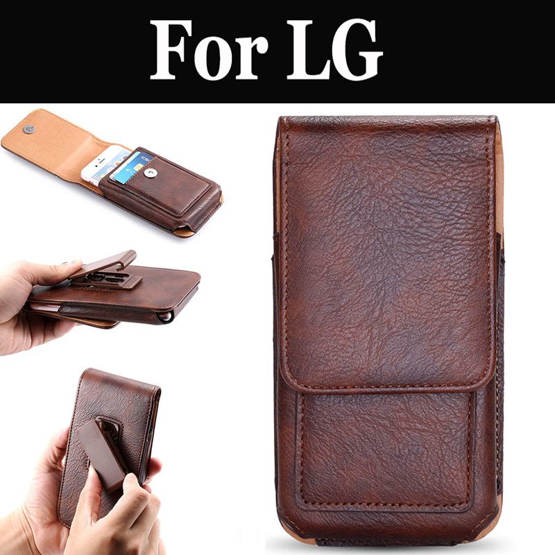 Gürtel Clip Telefon Fall Vertikale Taille Tasche Tasche Fall Holster Für LG G5 G6 G7 fit G7 ThinQ K10 K3 LTE K5 K7 K8 K9 Q6 Q7 Q8 Stylus 3