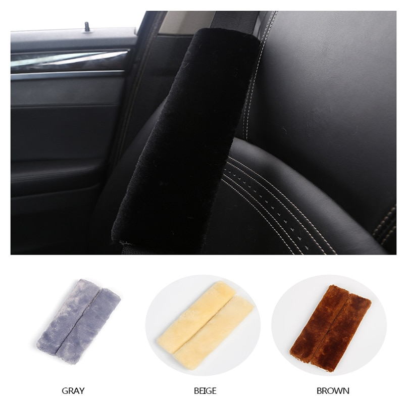 2 uds cinturones de seguridad de asiento cálidos de invierno para Honda Civic 2006-2011 Accord Fit City CRV Volvo S60 XC90 V40 V70 V50 V60