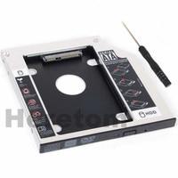 2pcs Heretom Universal Aluminum SATA to SATA 12.7mm 2nd HDD SSD Optibay Caddy For Laptop DVD CD-ROM Optical Bay