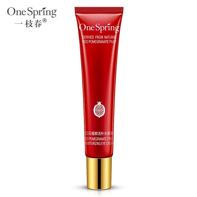 OneSpring Plant Essence Eye Cream Natural Pomegranate Anti-Puffiness Remove Dark Circle Anti-Aging M