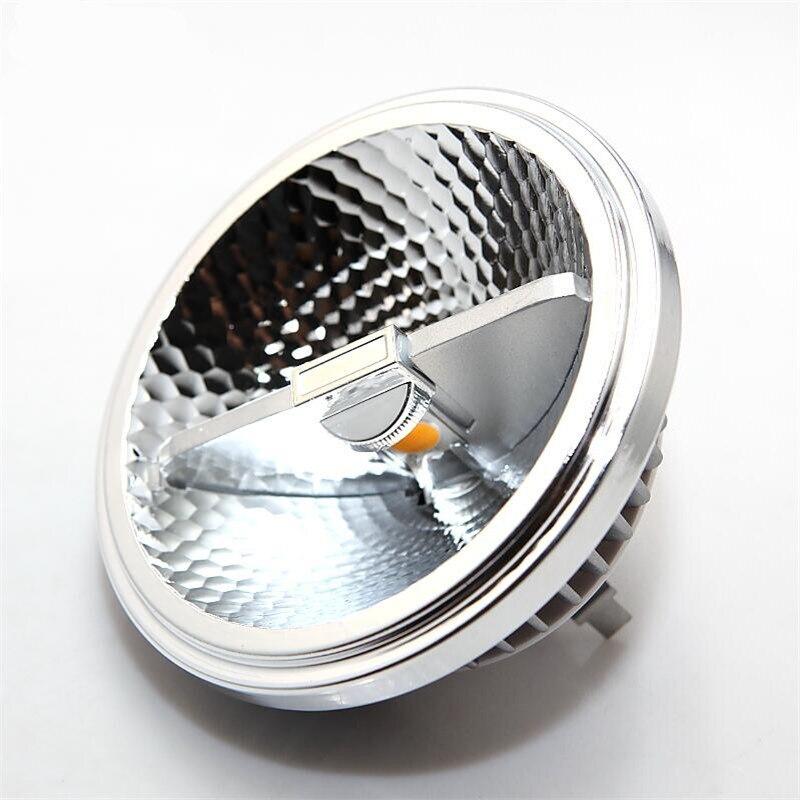 Alta Potencia AR111 15W COB bombilla LED para lámpara G53 GU10 15W COB lámpara de techo LED QR111 punto de luz LED AC85-265V/DC12V