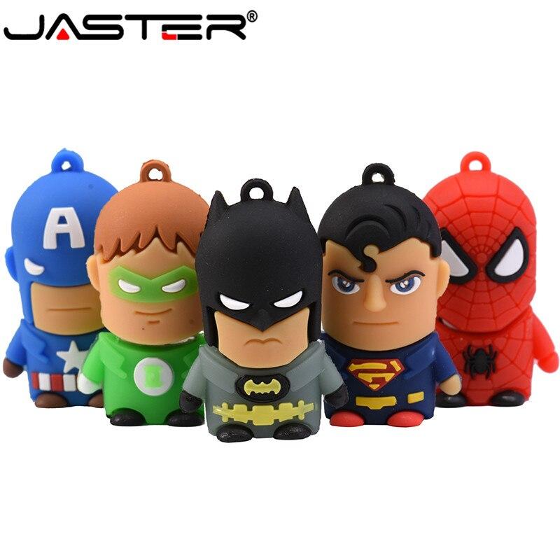 JASTER продвижение мини мультфильм внешний флэш-накопитель USB 2,0 4 ГБ 8 ГБ 16 ГБ 32 ГБ 64 Гб зеленый фонарь серии USB флэш-накопитель