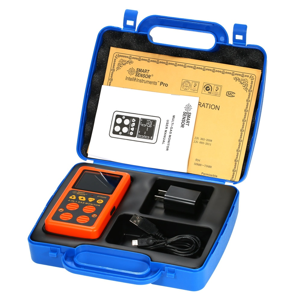 4 in 1 Digital LCD Gas Detektor O2 H2S CO UEG Monitor Gas Analyzer air qualität Monitor Gas Tester Carbon kohlenmonoxid-detektor Meter