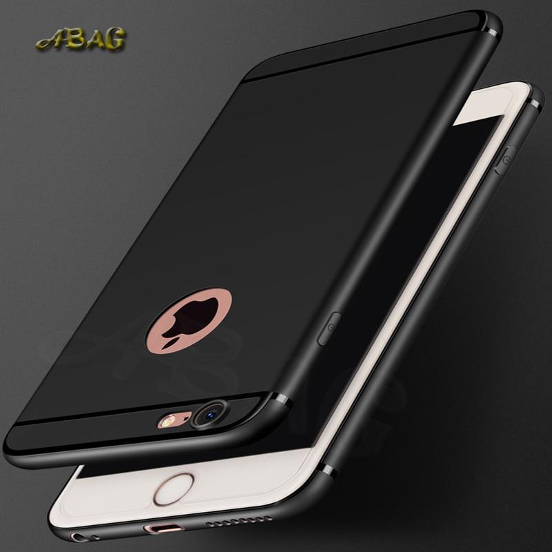 Carcasa de silicona ultrafina para teléfono móvil para iphone6 6s 7 8 plus funda ABAG micro frosted Cámara protectora TPU suave shell T07 #