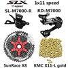 SHIMANO DEORE SLX M7000 Groupset MTB הרי אופני 1x11-Speed 46T 50T SL + RD + שמש + X11.93 m7000 משמרת מנוף אחורי הילוכים