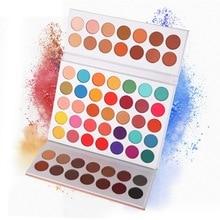 Beauté émaillée 63 couleurs ombre à paupières poudre maquillage Palette doux fumé Nude fard à paupières Pigments facile à porter miroitant mat fard à paupières