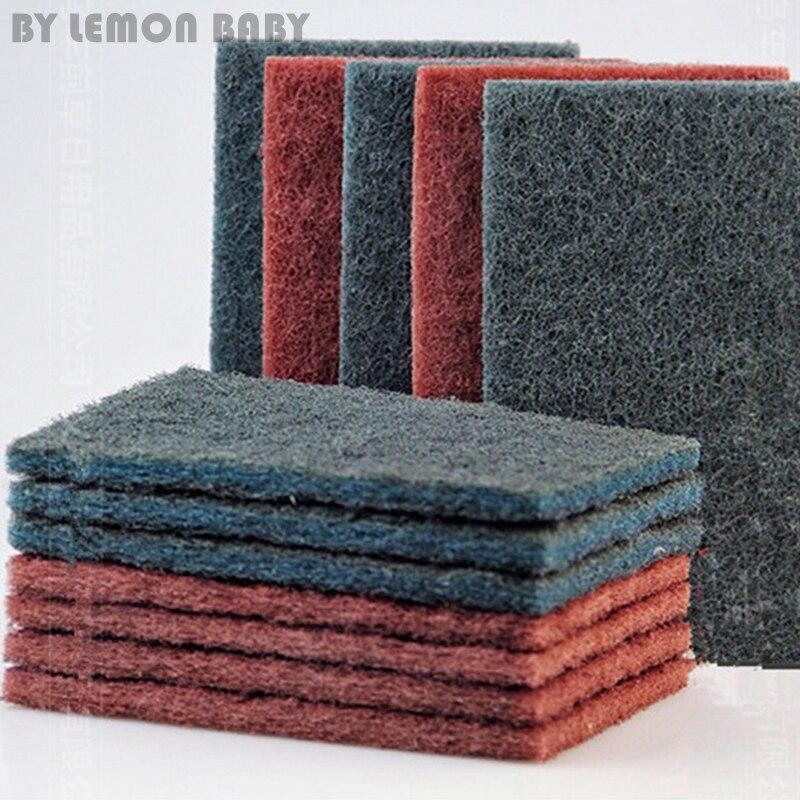 20 шт. зеленый/красный абразивный полировальный коврик Mirlon для очистки от ржавчины кухонный коврик для очистки мытья посуды полотенце QDD9072