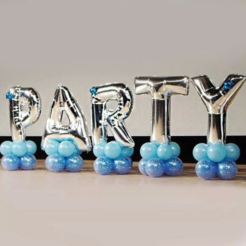 40 inches Silver Letter Foil Balloons Birthday Party Banner Helium Letter Balloon Wedding Decoration