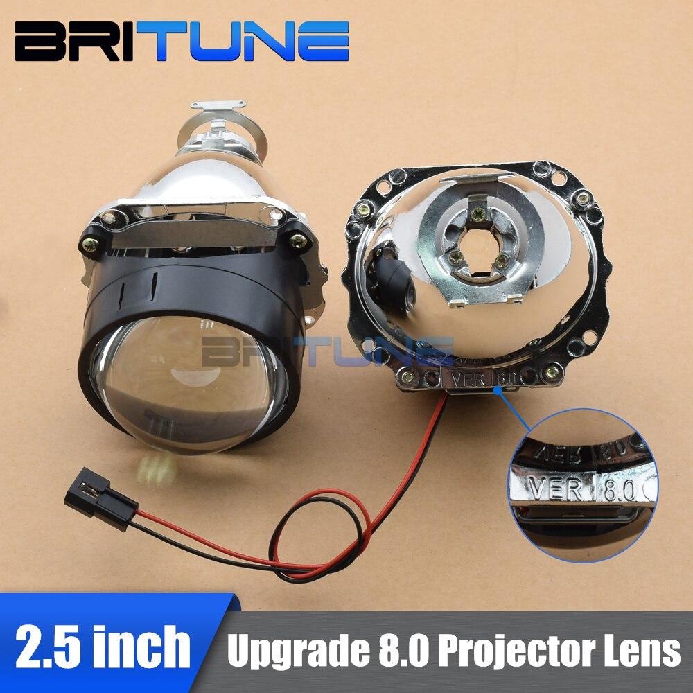 H7 H4 Car Headlight Lenses Bi-Xenon Lens Projector 2.5 Mini 8.0 WST For 9005 9006 Accessories DIY Tuning Style Use H1 HID Bulbs