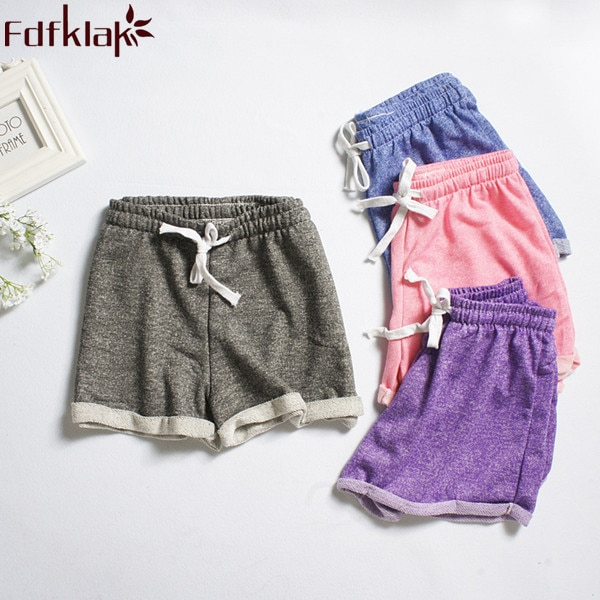Pantalones de pijama para mujer, novedad de verano 2020, pantalones cortos de pijama de algodón con cordón, pantalones cortos para dormir, pantalones de pijama púrpura/Rosa Q349
