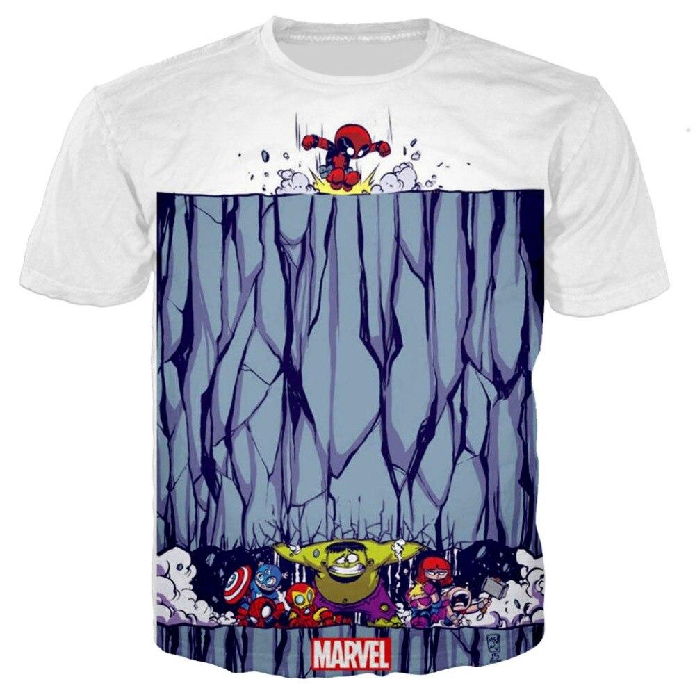 Marvel Avengers 4 cosplay niños dibujos animados 3d imprimir Camisetas Bebé niño camisetas ironman Spiderman niño niñas camisetas disfraz Superman