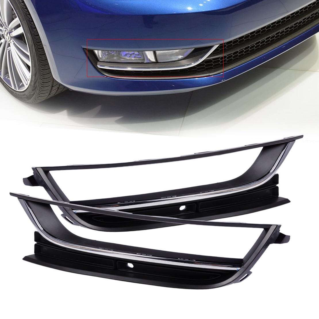 DWCX 56D853665 56D853666 Front Bumper Left + Right Fog Light Lamp Grille for VW Passat NMS 2012 2013 2014 only America Model