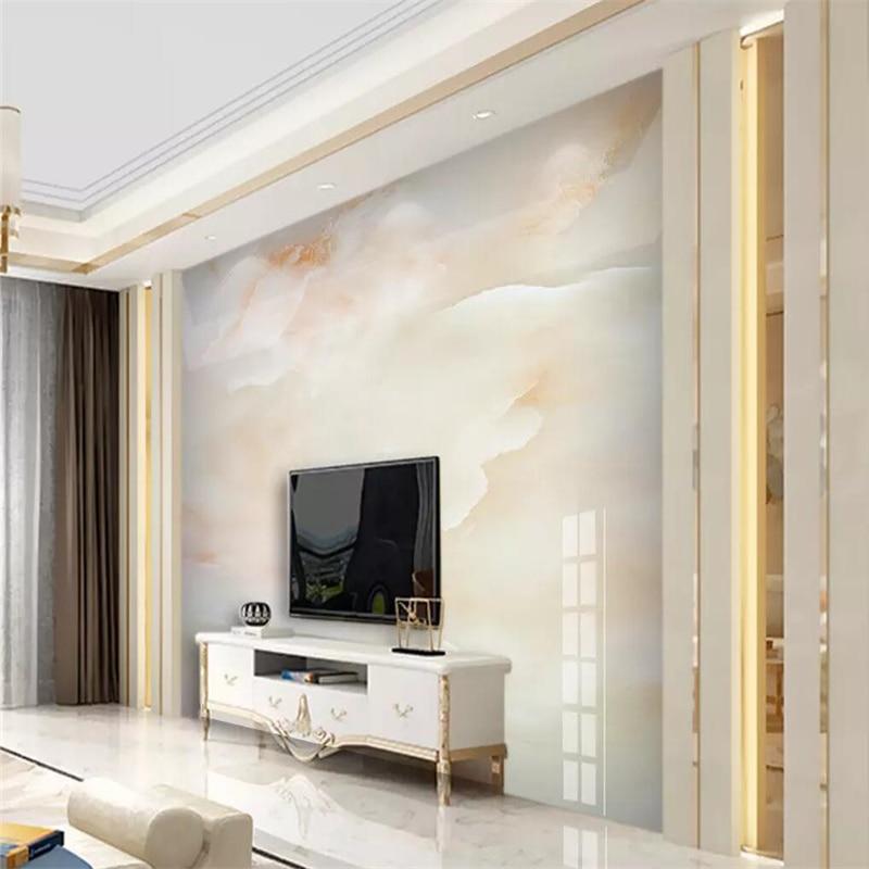 Papel pintado decorativo nube jade hd mármol fondo de pared de paisaje pintura