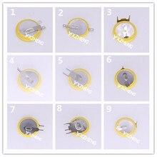 500pcs cr1616 cr1632 CR1212 Soldador De Solda Tabs 3v botão De Lítio de célula tipo moeda Baterias para os Ponteiros Laser, relógios, Relógios