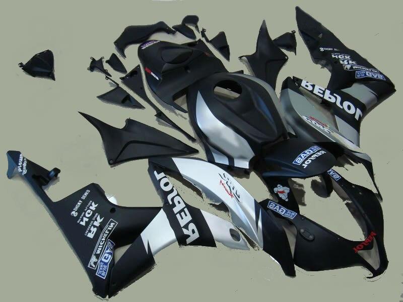 L36-100 % injeção fit CBR600RR 2007 2008 prata preto kit carenagem molde para carenagens CBR 07 08 600RR