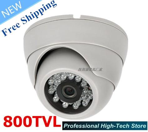 Freies verschiffen! CCTV Kamera HD 800TVL sony CCD CCTV Cam IR 24Leds 1/3 sony ccd PAL/NTSC Sicherheit Kamera Indoor mit Hoher qualität