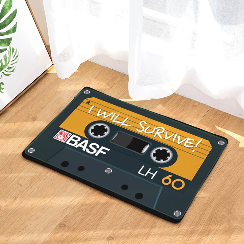 HomeMiYN Bath Mat Magnetic Tape Door Mats Square Pad Anti Slip Bath Rug Footpads Bathroom Digital Printing Foot Mats 14 Colors enlarge