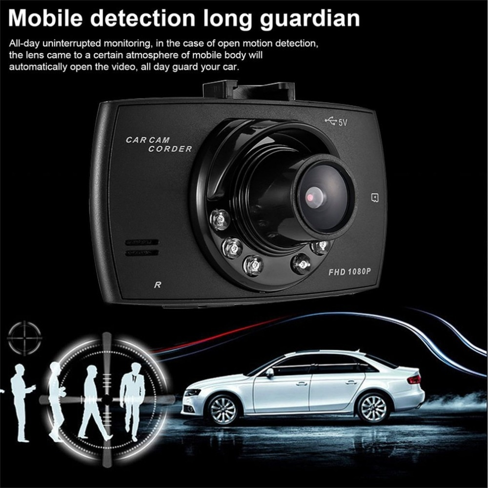 Gran Angular 2,4 pulgadas HD 1080P coche DVR cámara frontal trasera cámara de salpicadero Video grabadora detección de movimiento g-sensor vehículo videocámara caliente