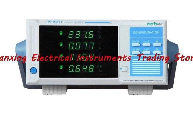 مقياس الطاقة الرقمي EVERFINE PF9811, استهلاك الطاقة للمعلمات الكهربائية جهاز اختبار التحليل التوافقي